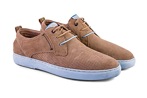 Meröhe - Zapatillas para Hombre de Piel Marrón Beige - Tallas 40 a 45: Amazon.es: Zapatos y complementos