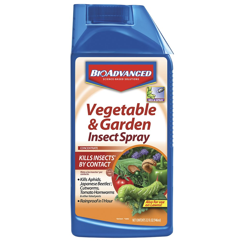 Bayer Advanced 701521 Vegetable and Garden Insect Spray Concentrate, 32-Ounce