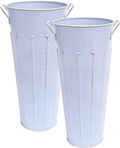 AULESET Galvanized Vase 12