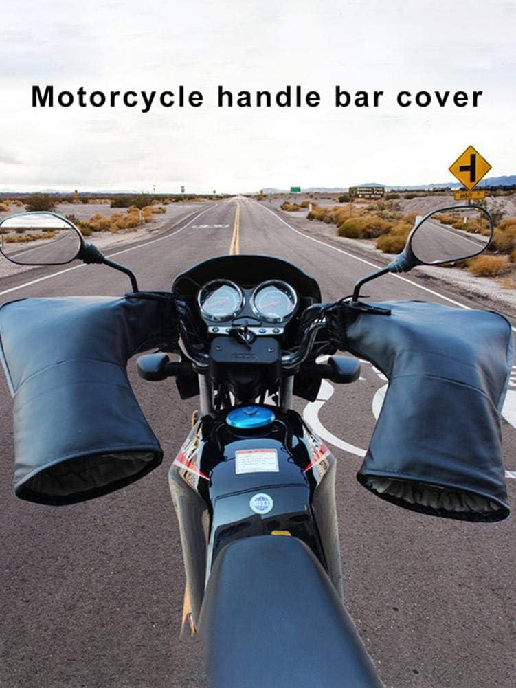 Manguitos Gruesos de Cuero para Manillar Guantes de Moto de Invierno mysticall Guantes de Manillar de Motocicleta Manopla de Manillar de Motocicleta