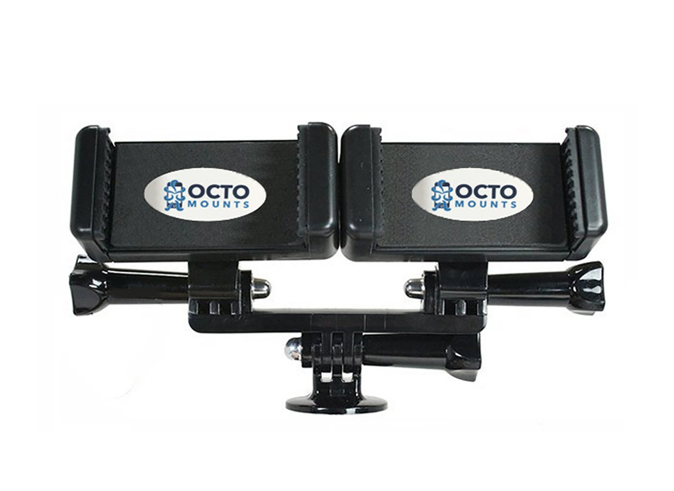 OCTO MOUNT - Dual Cellphone Mount Adapter for Smartphone Tripod or MonoPod. Also Works with Sport Cameras Like GoPro.