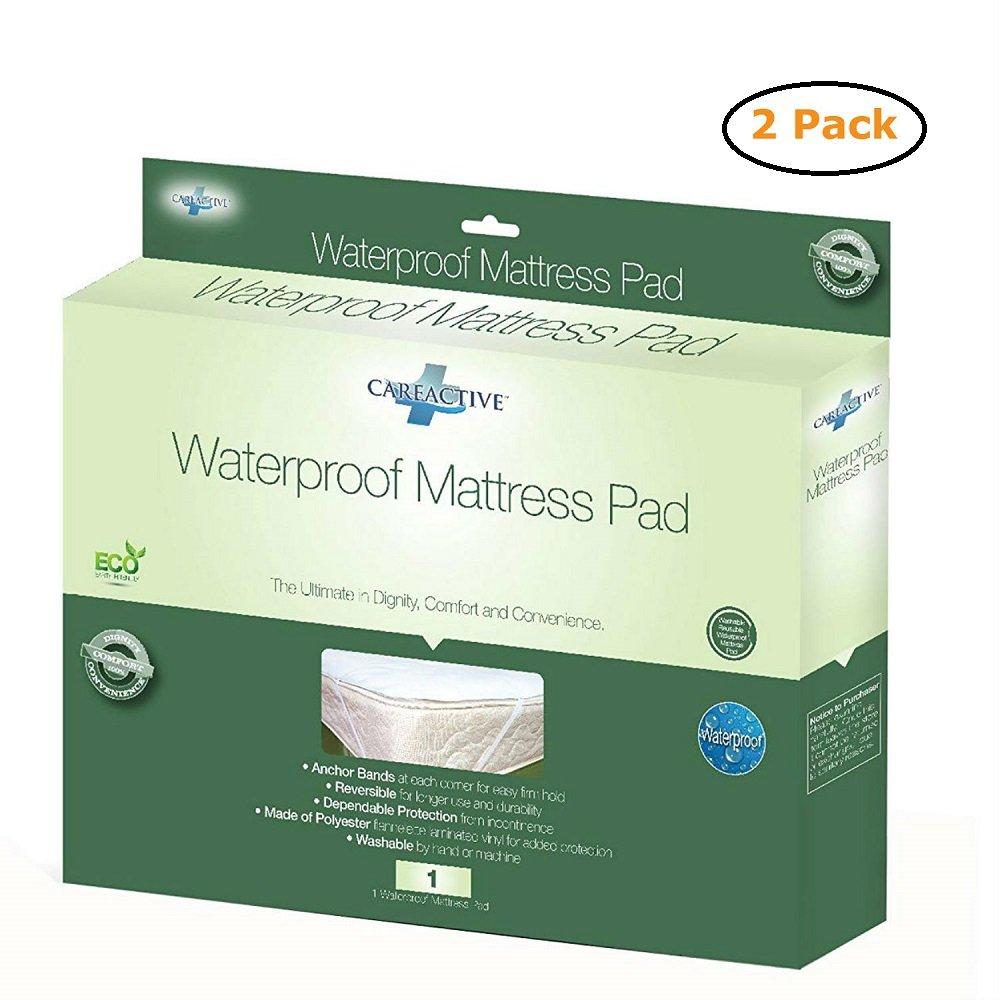 Waterproof Mattress Protector Flannelette/Vinyl - Size -Full 54X70 - Pack of 2