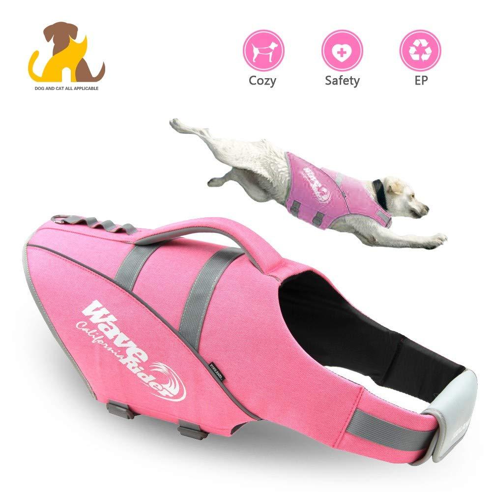 Nwayd Dog Life Jacket,Reflective Adjustable,Dog Swimsuit Swimming Vest,Dog Harness Vest Summer Clothes Pet Life Vest.
