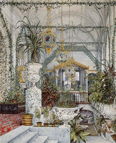 'ukhtomsky Konstantin Andreyevich,Interiors Of The Winter Palace,The Winter Garden Of Empress Alexandra Fyodorovna,1818-1' Oil Painting, 10x12 Inch / 25x31 Cm ,printed On High Quality Polyster Canvas ,this High Definition Art Decorative Canvas Prints Is Perfectly Suitalbe For Bathroom Decoration And Home Gallery Art And Gifts