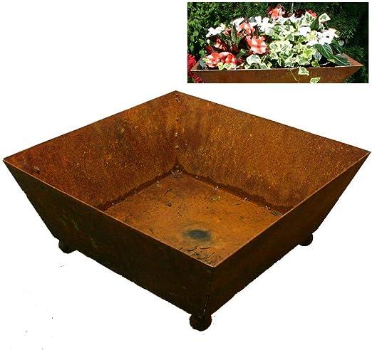 EQT-TEC - Macetero de diseño para jardín (40 x 40 x 17 cm): Amazon.es: Jardín