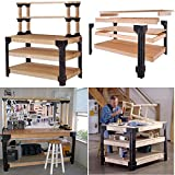 GOOD MEDIA Workbench Storage Table Shelving Work Bench Tool Garage Legs Steel Arquitect New ✅