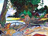 """20"""" x 25"""" premium canvas print of The Hibiscus Tree by Paul Gauguinis meticulously created on artist grade canvas utilizing ultra-precision print technology and fade-resistant archival inks.Every detail of the artwork is reproduced to museum qualit..."""