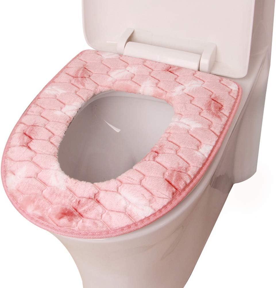 Color : Gray WC-Sitzbez/üge WC-Sitze toilettenauflage Super Warm Filzig Universal Gr/ö/ße Waschbar Toilettensitzabdeckung Kissen WC-Sitz-Auflage-Matte ZHAOYONGLI