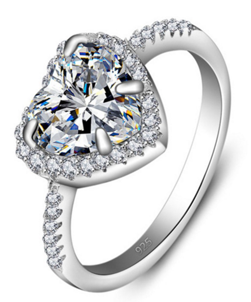 SaySure - 925 Sterling Silver White Cubic Zirconia