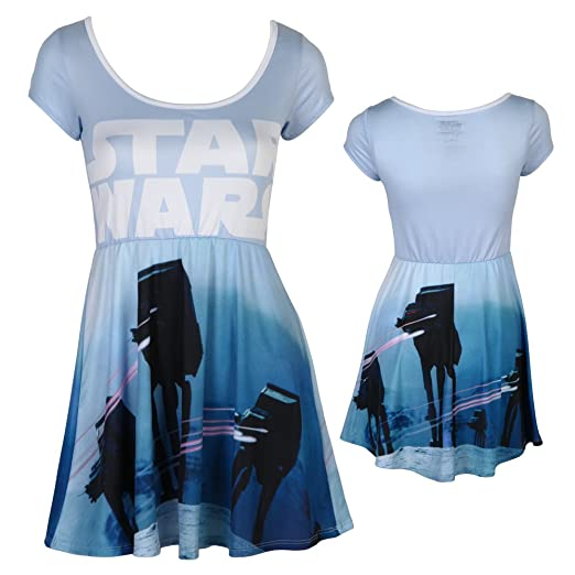 3b81c5e7f1 Star Wars Pew Pew at-at Juniors Skater Dress at Amazon Women s ...