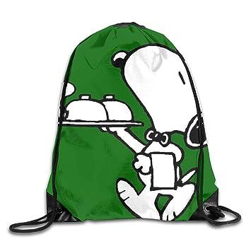 Meirdre Unisex Snoopy Peanuts Deportes Cordón Mochila Gimnasio Bolsa: Amazon.es: Hogar