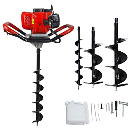 Eco Llc 52cc 2 4hp Gas Powered Post Hole Digger With 3 Earth Auger