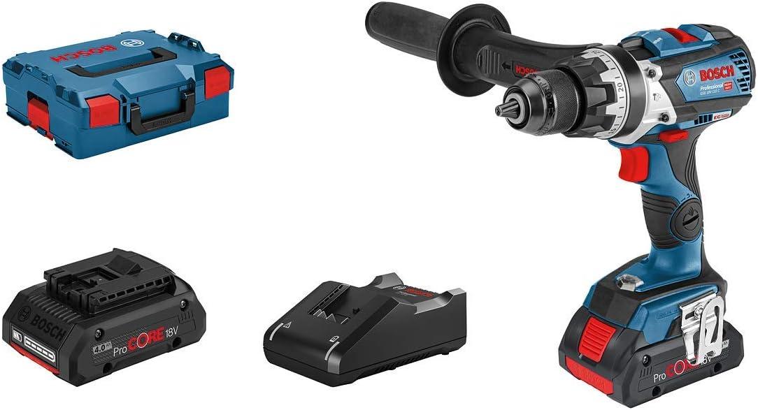 max. Drehmoment 110 Nm, ohne Akkus und Ladeger/ät, in L-BOXX Bosch Professional 18V System Akku-Schlagbohrschrauber GSB 18V-110 C