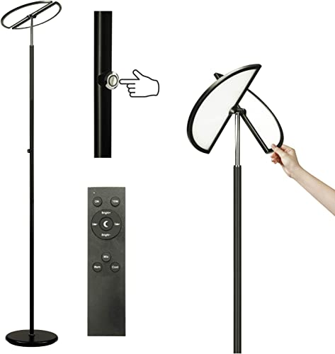 Syrinx LED Modern Torchiere Floor Lamp