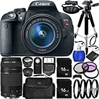 Canon EOS Rebel T5i DSLR Camera Bundle with 18-55mm f/3.5-5.6 IS STM Lens & EF 75-300mm f/4-5.6 III Lens, Carrying Case and Accessory Kit (22 Items) Noticeable Review Image