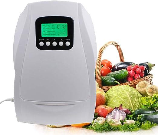 QWERTOUY Portátil Generador de ozono Activa esterilizador de Aire purificador de purificación de Agua de Frutas ...