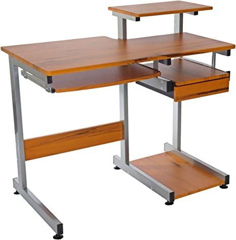 Amazon.com: Complete Computer Workstation Desk. Color: Woodgrain
