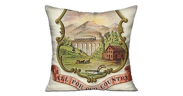 Amazon.com: WQBZL - Almohada decorativa para sofá, diseño de ...