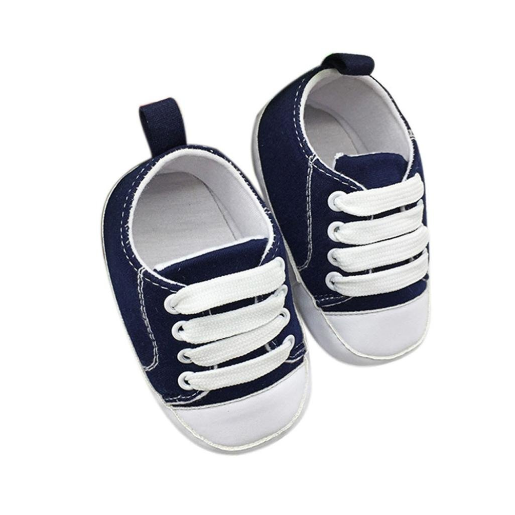 Moonker Infant Toddler Girls Boys Soft Sole Non-Slip Canvas Walking Toddler Shoes Baby Casual Sneaker 0-18Month