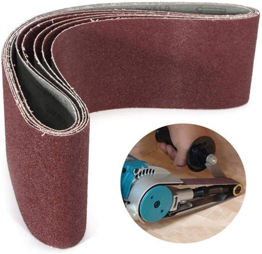 CHUNSHENN Grinding Tool 5pcs 60 Aluminum Oxide Abrasive Sanding Belts Grit Sanding Belts 100x915mm Abrasive Accessories