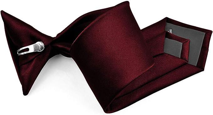 Amazon.com: Moda Di Raza - Corbata de poliéster con clip de ...