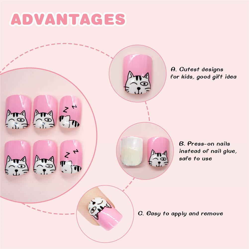Geometría Nail Art Tip ABS Uñas Postizas Perfect Length Full Cover Beauty Art Decoración Manicura para Mujeres Adolescentes Niñas 24 Unidades(C27): ...