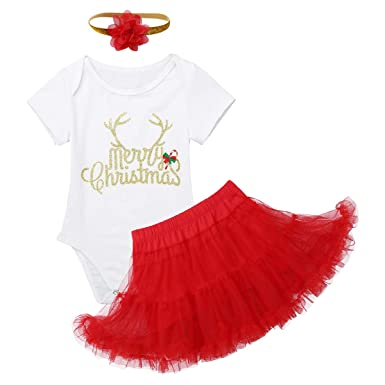Freebily Bebé Niña Merry Christmas Disfraz Bebé Primera Navidad ...