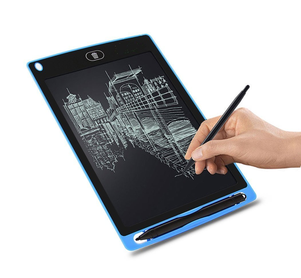 Corelink LCD Writing Tablet 8.5-inch Digital Drawing Pad Paperless Note Board Portable Durable Doodle Whiteboard for Kids and Adult Blue
