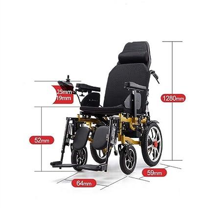 Wheelchair Silla De Ruedas Eléctrica Tirantes De La Lleno-Mentira Oro Plegable Portátil Silla De