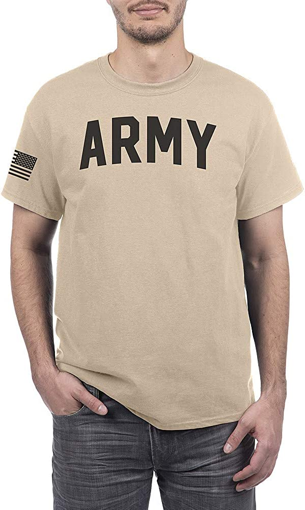 Military T Shirt Sand