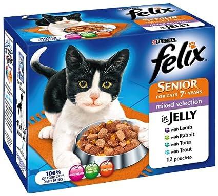 Felix - Selección de alimentos para gatos (4 x 12 x 100 g, 48