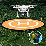 Powerextra-43-110-cm-Collapsible-Landing-Pad-for-DJI-Phantom-2344-Pro-Inspire-12-DJI-Mavic-Pro-3DR-Solo-Parrot-Yuneec-Typhoon-Antel-Robotic-X-star-Other-Brand-Drones