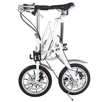 ZHAORLL Aleación De Aluminio De 14 Pulgadas, Bicicleta Plegable, Mini Adulto, Macho Y