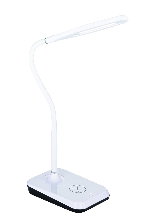 Reality Leuchten LED Tischleuchte mit induktiver Ladefunktion für Smartphone inklusive 4-Stufen Touch, 38 cm, 5 W, weiß R59019901