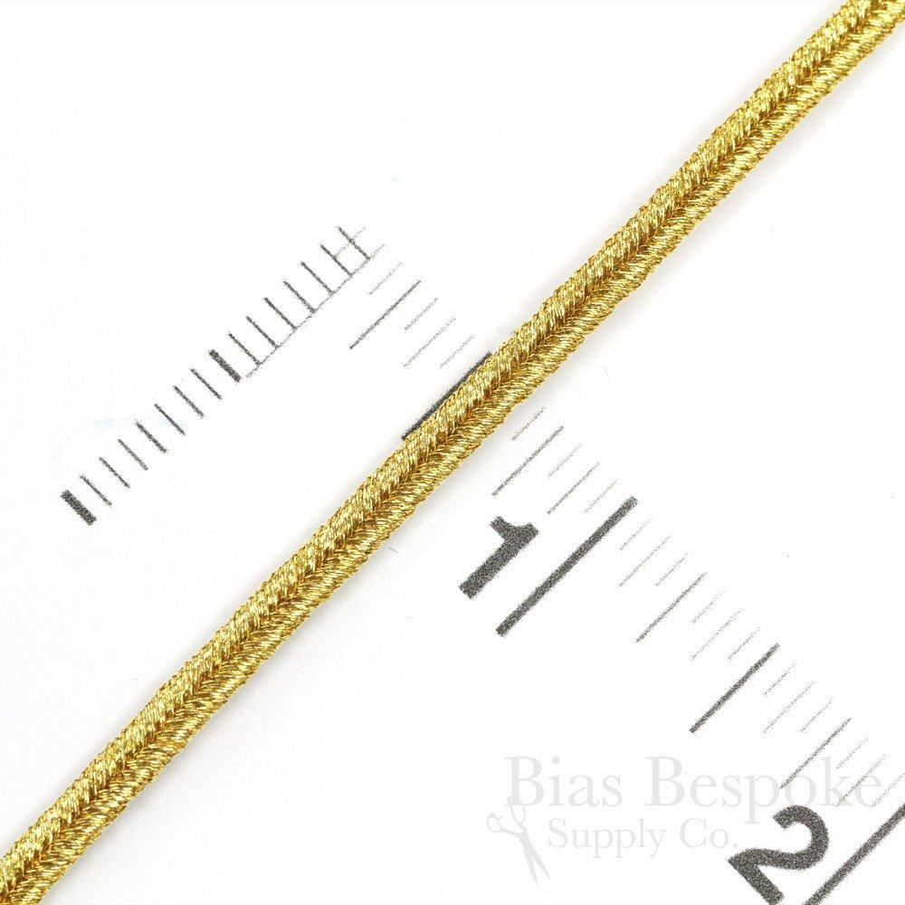 ALIK 4mm Yellow Gold Bullion Soutache Braid 5 Yards