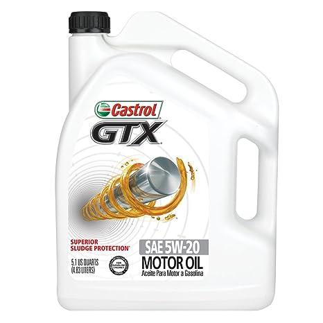 Castrol 03560 GTX 5W-20 Conventional Motor Oil - 5.1 Quart Jug