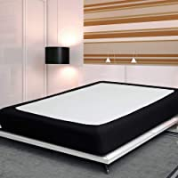 Twin Six Fashion Bed Box Spring Cover with Plush Premium Elastic Mattress Cover Protector, QueenKingTwinFullCalifornia King Size