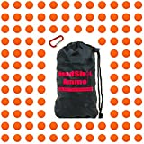 nerf bullet carrying bag - [110 Rounds] Nerf Rival Compatible Ammo by HeadShot Ammo - Bulk Orange Foam Bullet Ball Replacement Refill Pack for Apollo, Zeus, Khaos, Atlas, & Artemis Blasters (HIR, High-Impact Rounds - Orange)