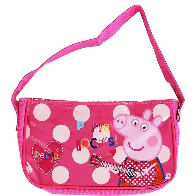 Peppa Pig Ropa de descanso para niñas bolso de mano producto oficial Rocks de flores saliendo