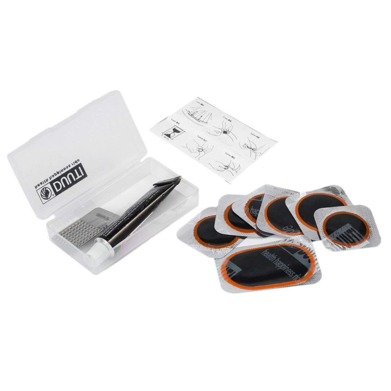 EdBerk74 V/élo V/élo R/éparation Kit Fix en Caoutchouc Pneu Pneu Tube Patch Patch Ensemble De Colle V/élo V/élo R/éparation Accessoires