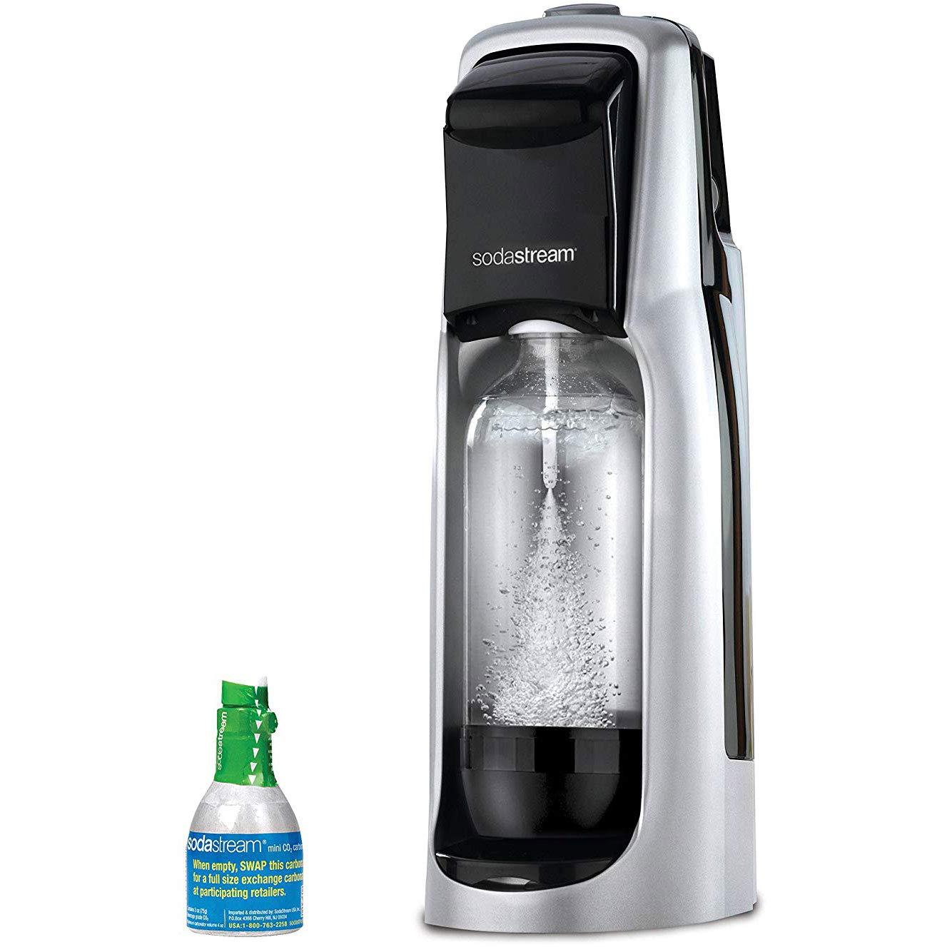 373849e8954 Amazon.com: SodaStream Jet Sparkling Water Maker Starter Kit, Black and  Silver: Kitchen & Dining