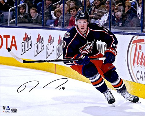"Ryan Johansen Columbus Blue Jackets Autographed 16"" x 20"" Blue Jersey Skating Photograph - Fanatics Authentic..."