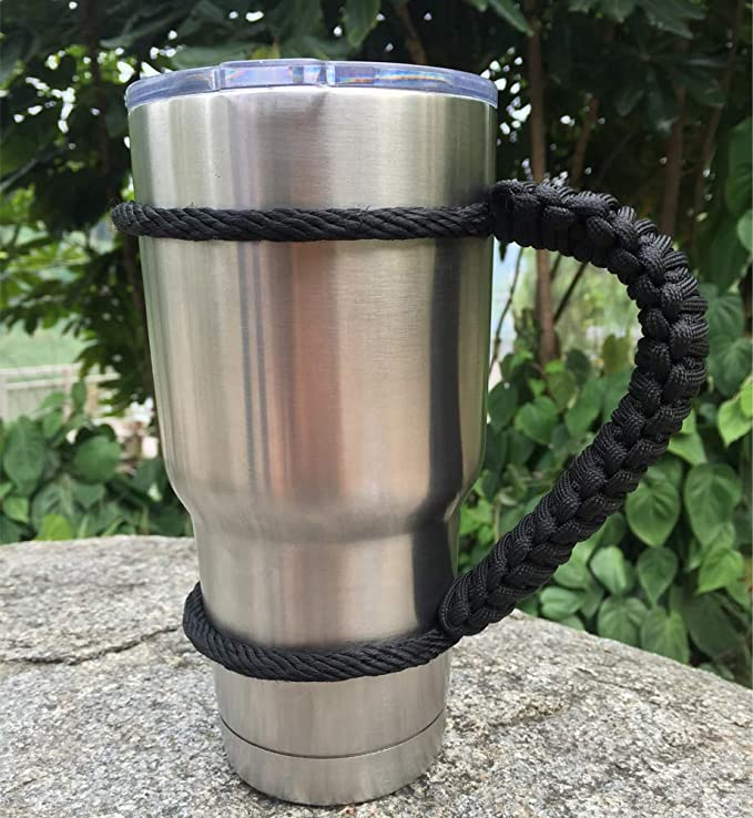 30 oz Ramblers Cups Camping Travel Paracord Tumbler Handle for 20 oz