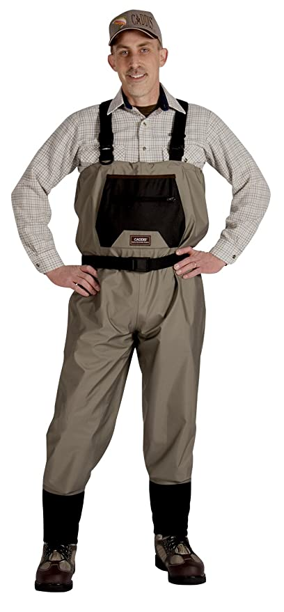 Best Fishing Waders : Caddis Men's Taupe Affordable Breathable Stocking Foot Wader