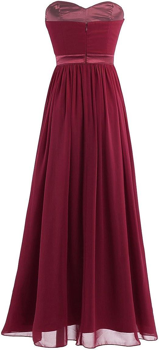 TiaoBug elegancka sukienka wieczorowa, z szyfonu, na wesele, koktajlowa: Odzież