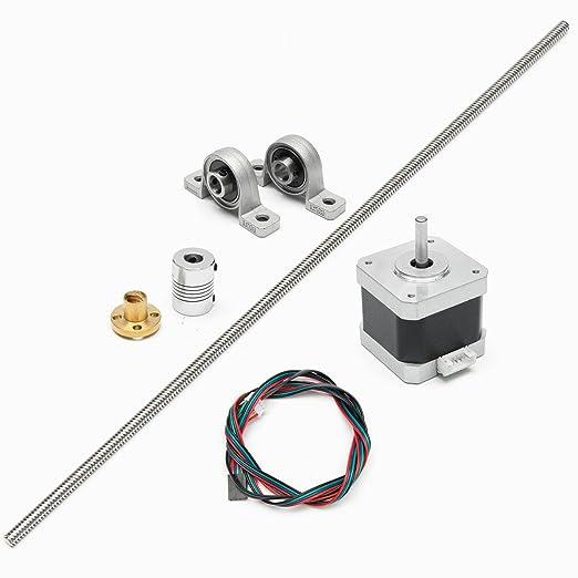 9 opinioni per Motore passo a passo 8 mm acciaio inox T8 500 millimetri vite conduttrice