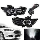 Hoypeyfiy Fog Light Kit for 13 14 15 16 Ford Fusion Mondeo Full Kit w/Wiring Switch Bezel FO1038136 DS7Z17B814BA