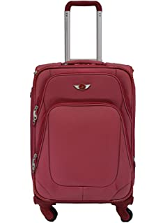 Polo House USA 4-Wheel Luggage Trolley Travel Bag ,Red Colour ...