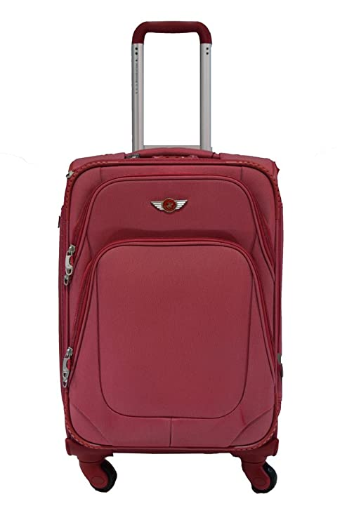 94bf85bf5abd Polo House USA Polyester Maroon Soft Sided Suitcase   Trolley Bag   Amazon.in  Bags
