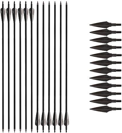 show original title Details about  /12 Piece 31 inch spine 500 carbonpfeile for Archery Carbon Arrow